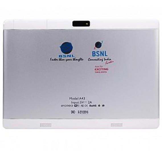 BSNL A43 Tablet, 4G, Android 4.4, 10.0 Inch Display, 3GB RAM, 64GB Storage, Dual Camera, Dual Sim, Silver