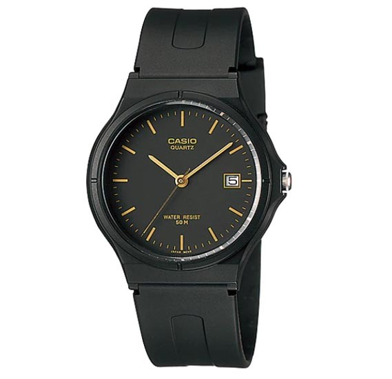 Casio MW-59-1EVDF Analog Black Rubber Strap Unisex Watch