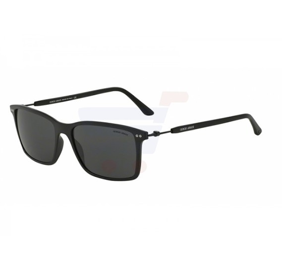 Giorgio Armani Rectangular Matte Black Frame & Grey Mirrored Frames For Unisex - 0AR8045-504287