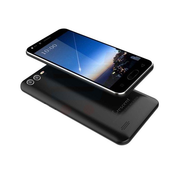 Crescent Wing 7 4G Smart Phone, 5 Inch HD Display, Android 6.0 OS, 1GB RAM, 8GB Storage, Dual SIM, Dual Camera - Black