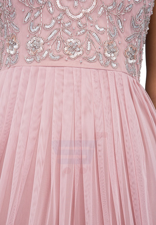 TFNC London Johanna Maxi Evening Dress Pink - LNB 28470 - L