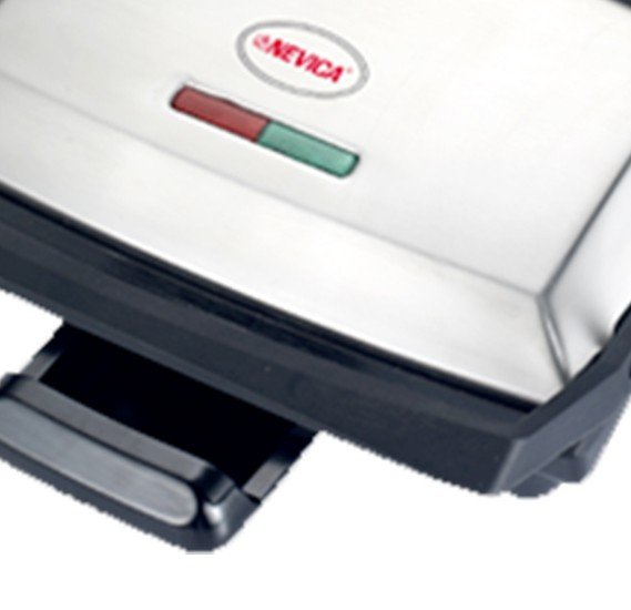 Nevica Contact Grill / Sandwich press with Flat Plates, Grooved plates, 220-240V 50/60Hz, 800-2000W - NV-669CG