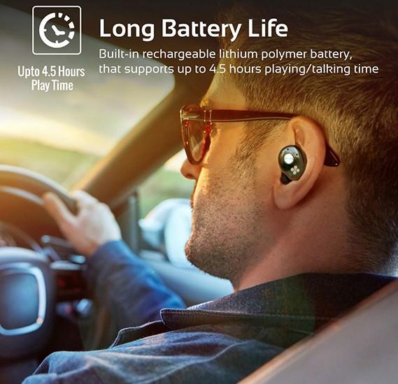 Promate True Wireless Earbuds, Ultra-Mini Bluetooth 4.2 Stereo Earphones, PrimeBud Black