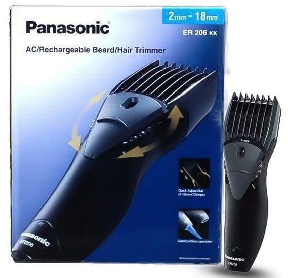 Panasonic ER206 Hair And Beard Trimmer- Black/Grey