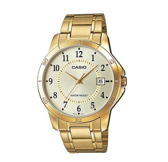 Casio Enticer MTP-V004G-9BUDF Analog Stainless Steel Gents Wrist Watch