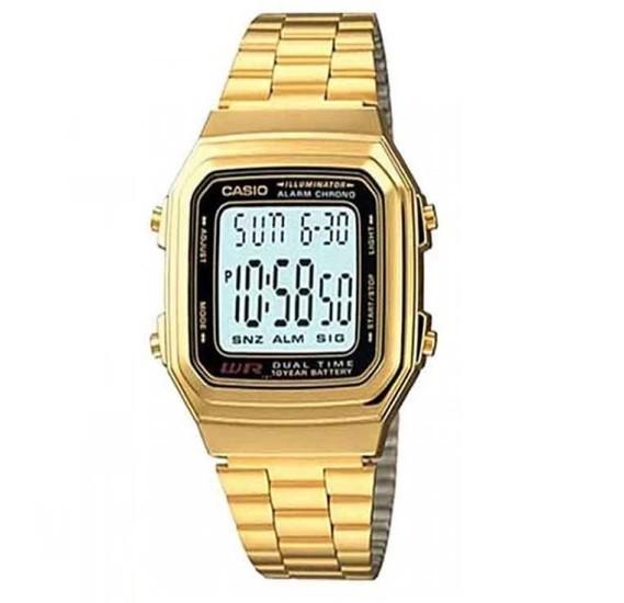Casio A-178WGA-1ADF Unisex Watch , Gold