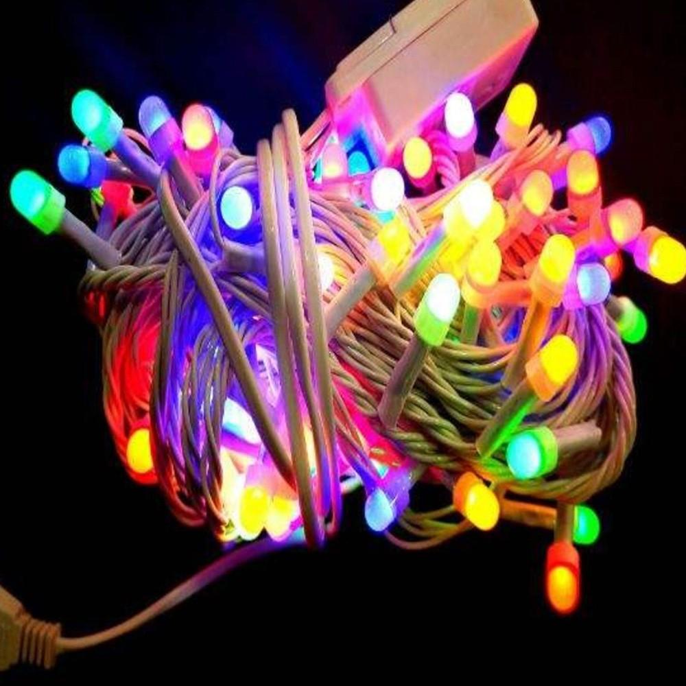 Ajtcshop LED Multicolor White Wire String Lights, DPL-680-MIX