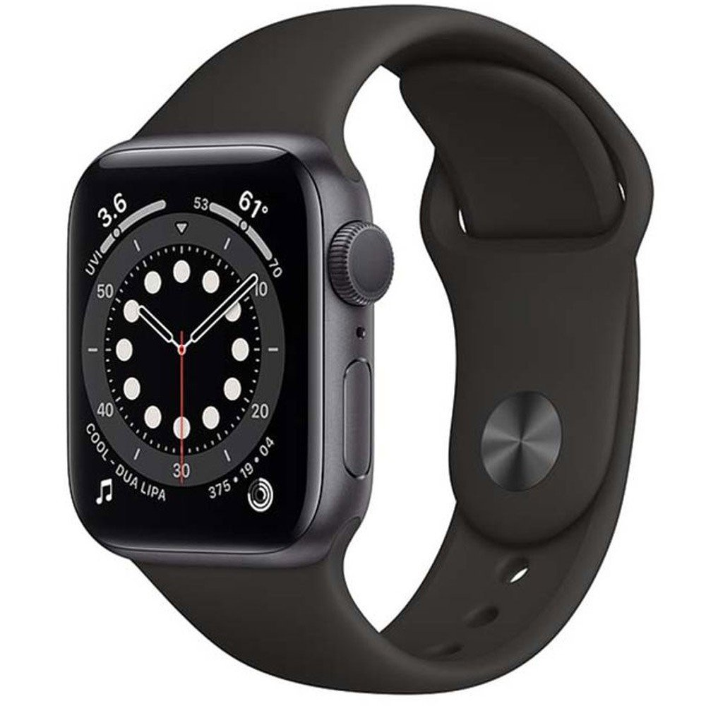Apple Watch Series 6-44 mm GPS Space Gray Aluminium Case with Black Sport Band