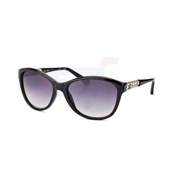 Guess Rectangular Turquoise Frame & Silver Mirrored Sunglasses For Woman - GU7458-09C