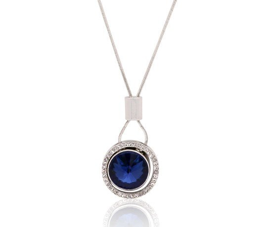 Stainless Steel Blue Stone Necklace