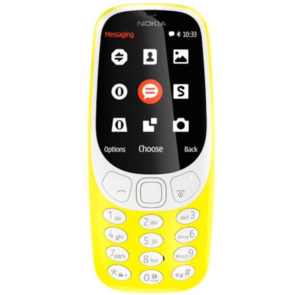 Nokia 3310 Yellow Mobile, 2.4 Inch TFT Display, Dual Sim, Camera, Radio
