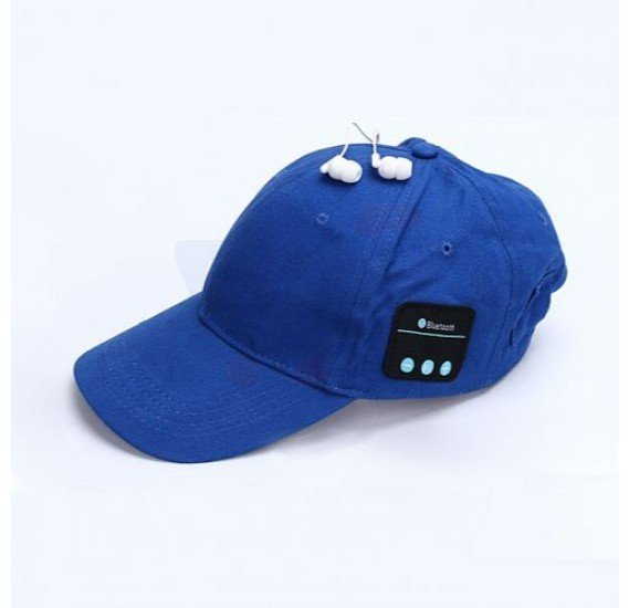 Unisex Summer Cap With Built In Bluetooth Earphone And Mic