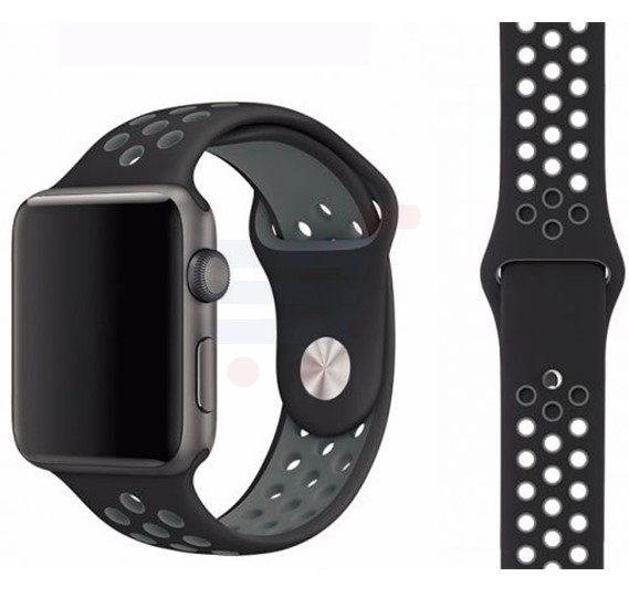 Silicone Watch Band For Apple Watch 42MM Bracelet Strap With Breathable And Holes Sport Black