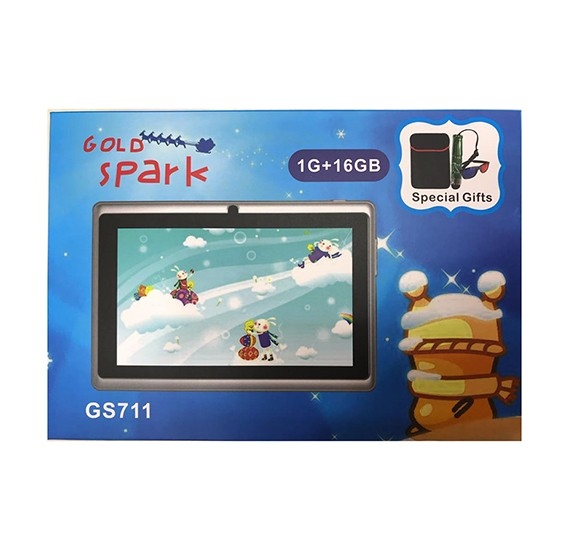 Gold Spark GS711, Wifi Tablet  7 inch Android 6.1, 16GB, 1GB Dual camara , Assorted Color