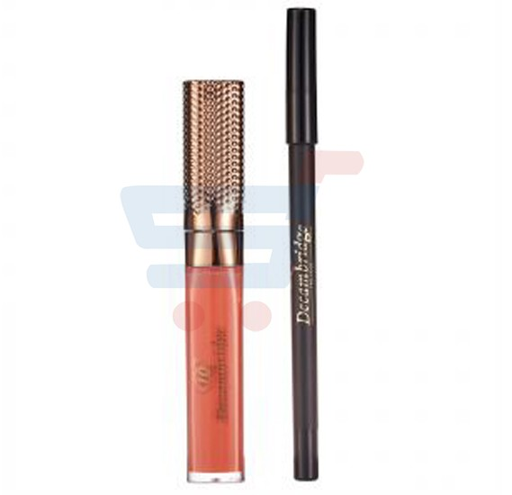Decambridge Orange Matte Liquid Lipstick and Lip Liner, LP15