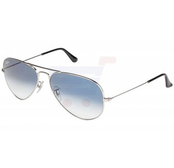 Ray-Ban Aviator Silver Frame & Light Blue Mirrored Sunglasses For Unisex - RB3025-003-3F-58