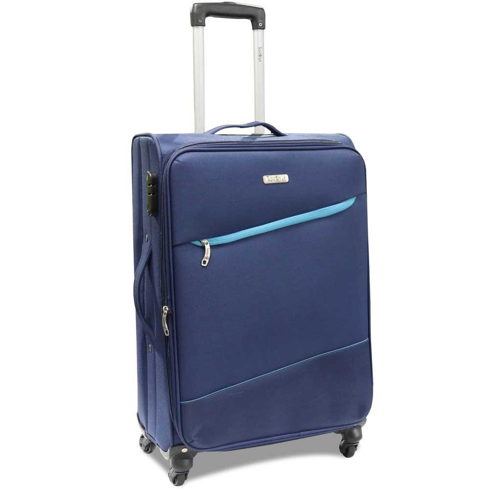 Traveller 4 Wheel Soft Trolley 3pcs Set, TR-3310, Blue