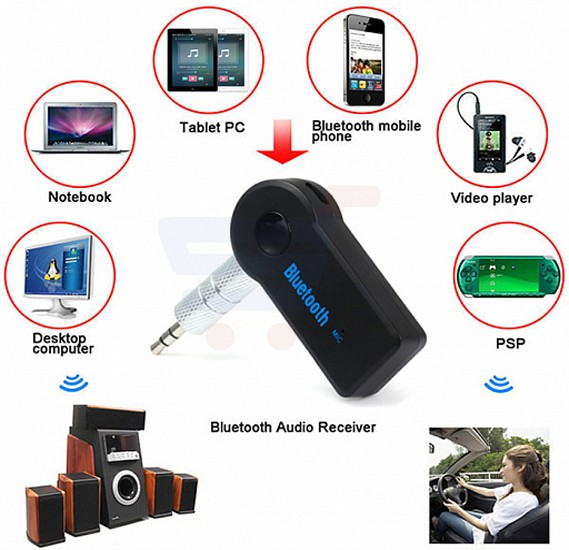 Car Bluetooth & Music Receiver Hand–Free