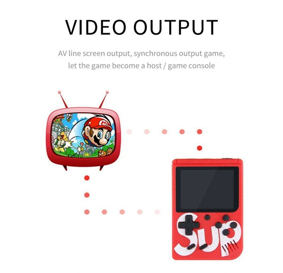 New 2 Player 3 Inch Screen Portable Retro Mini Sup Plus 400 Gameboy Game Classic Childhood Color Screen Palm FC Game, VC 5233