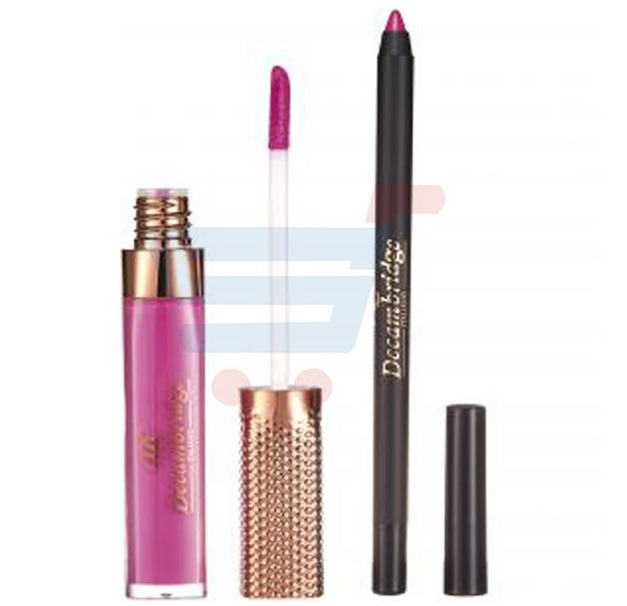 Decambridge Purple Pink Matte Liquid Lipstick and Lip Liner, LP24
