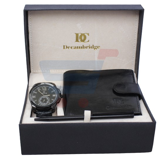 Decambridge Analog Watch For Men Full Black - W1003B