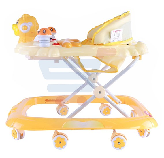 Baby Plus Stylish Baby Walker Yellow, BP 7751