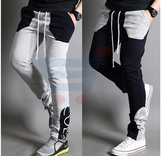 Mens CUBA Sporty Designer Trouser Grey - 1853 - M