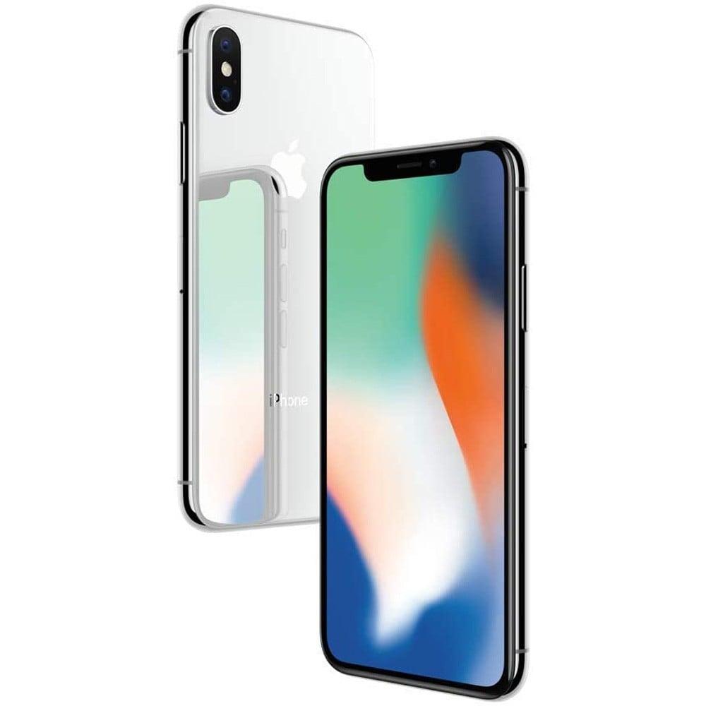 Apple iPhone X, 3GB RAM 256GB Storage, 4G LTE, Silver - Refurbished