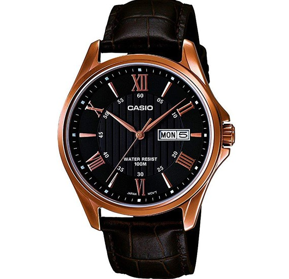 Casio Mtp-1384L-1Avdf Enticer Day and Date Display Analog Black Dial Mens Watch