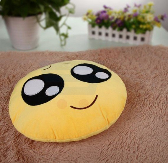 Emoji Pillow Yellow, Cute Face