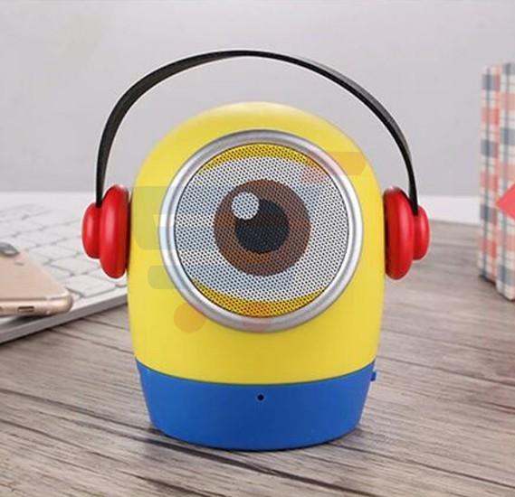 Cute Despicable Me Minions Strap Bluetooth Portable Speaker