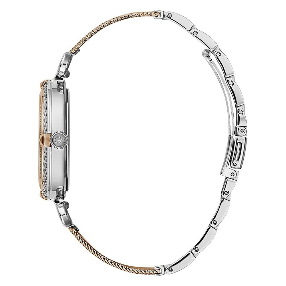 GC CableChic Silver And Rose Gold Color Women Watch, Y58001L1MF