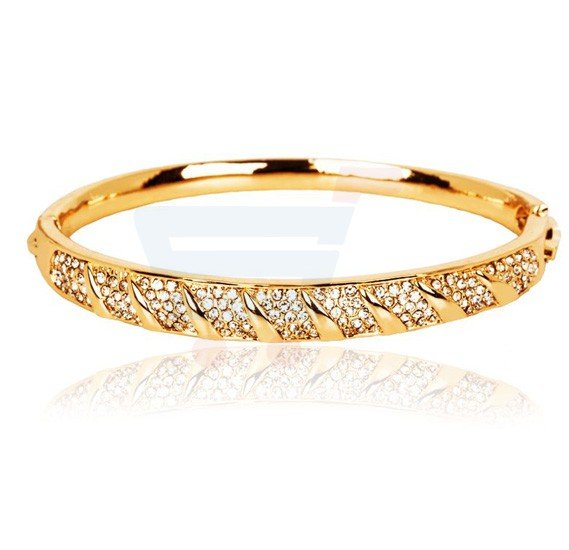 18K Yellow Gold Plated Woven Bracelet Set, MM564