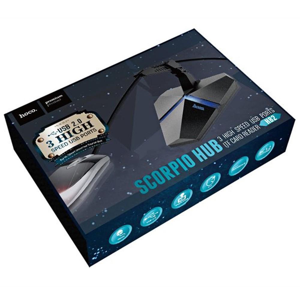 Hoco HB2 Scorpio 3 USB hub grey