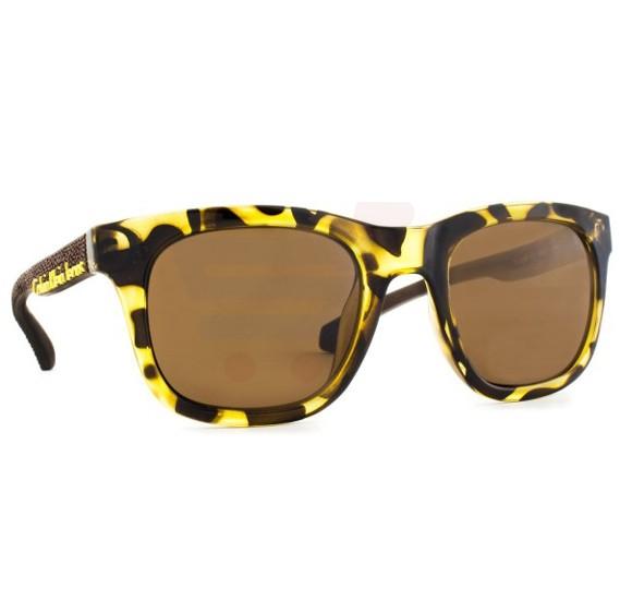 Calvin Klein Square Tokyo Tortoise Frame & Brown Mirrored Sunglasses For Women - CKJ787S-217