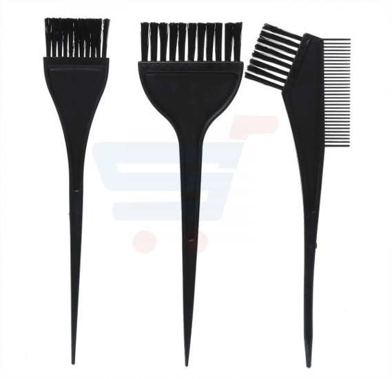 Hair Dye Brush Kit Black 4 Pieces - PF-040