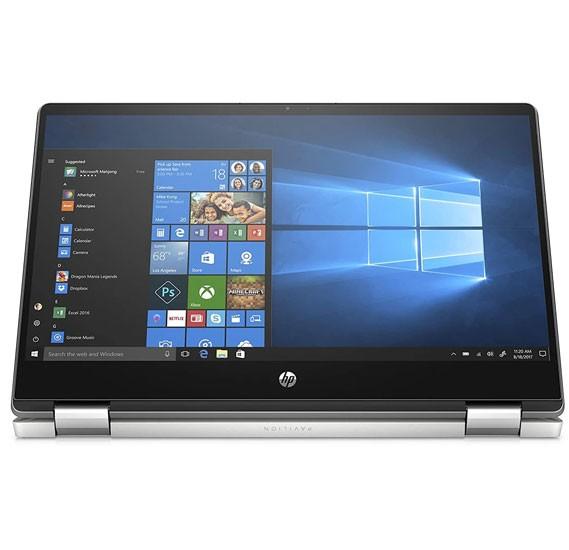HP Pavilion X360 14-DH1025NE Notebook with 14 inch Full HD Display, Intel I3 10110U Processor, 4GB RAM, 256GB SSD, Windows 10, Silver
