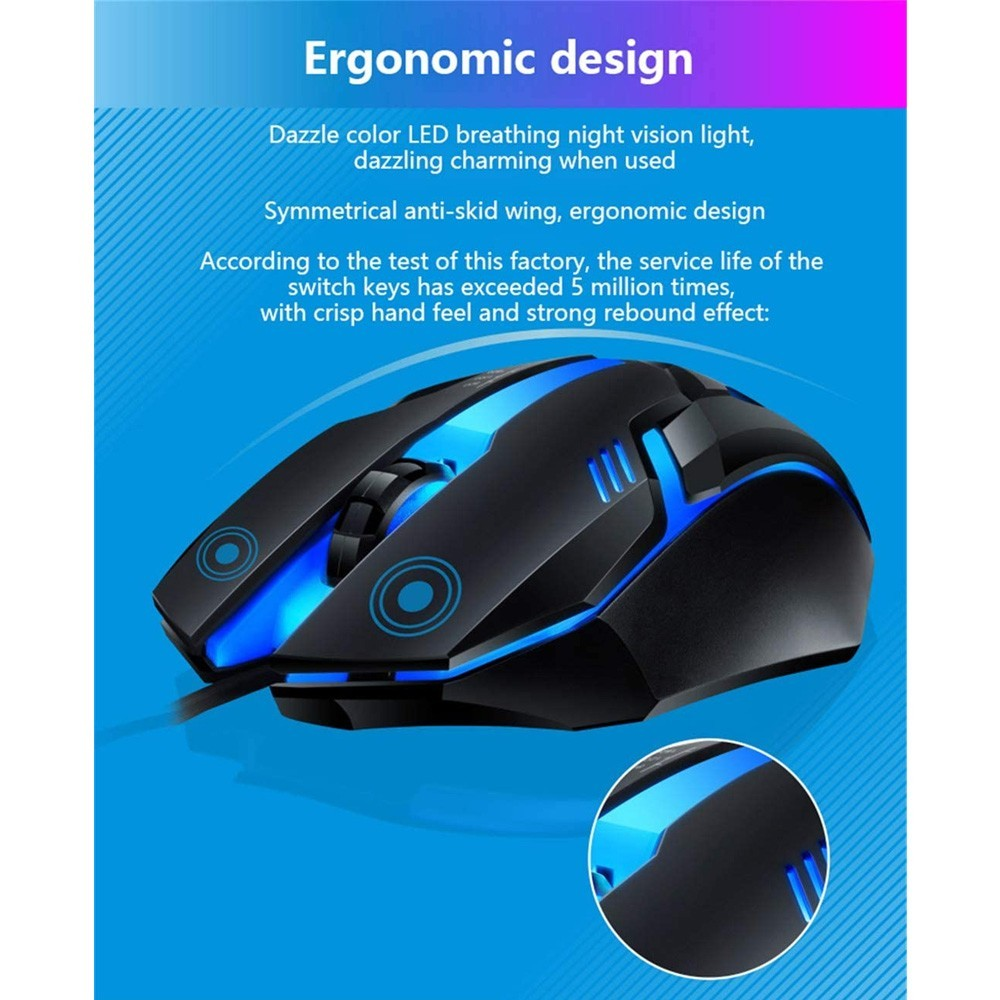 2 In 1 Redmo Gaming Combo Keyboard and Mouse RGB And Microdigit Raider Gaming Headphone