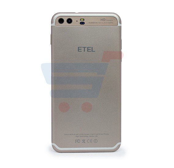 ETEL T8 Smartphone, Android , 6.1 Inch HD Display, 2GB RAM, 16GB Storage, Dual Camera- Gold