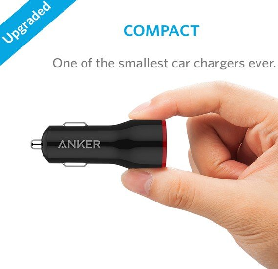 Anker Powredrive 2- Port Car Charger+ 3ft Micro usb Cabel ,B2310