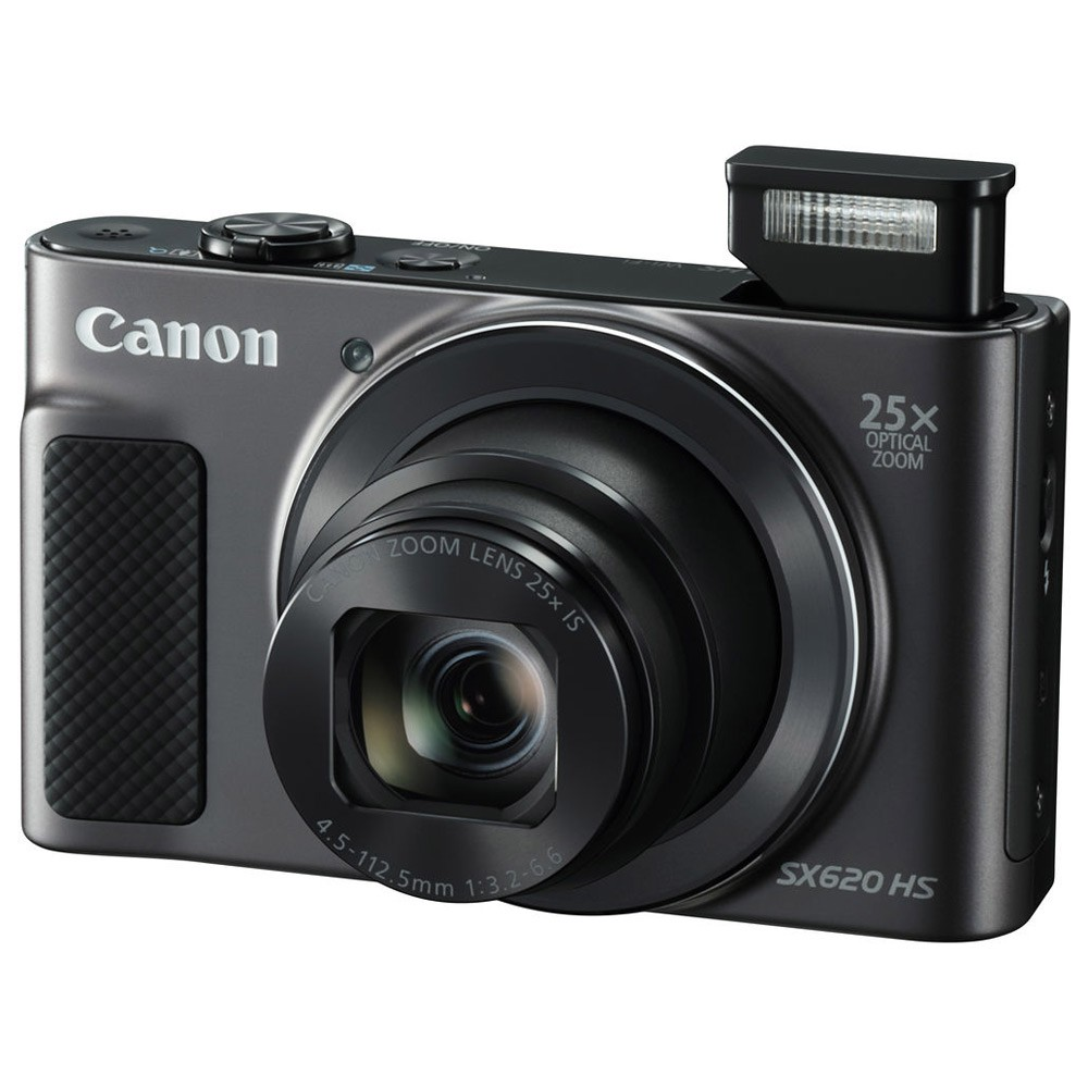 Canon PowerShot SX620 HS Point & Shoot Digital Camera with 4.5-112.5mm Lens, 20.2 MP, Black