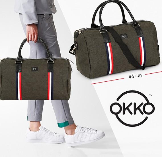Okko Casual Travel Bag GH-203, Size 46, Green,OK33836