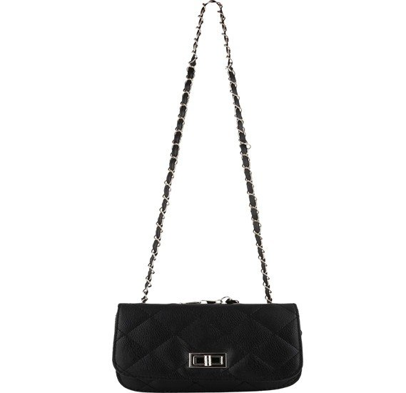 Generic Quilted Mini Shoulder Bag, Black