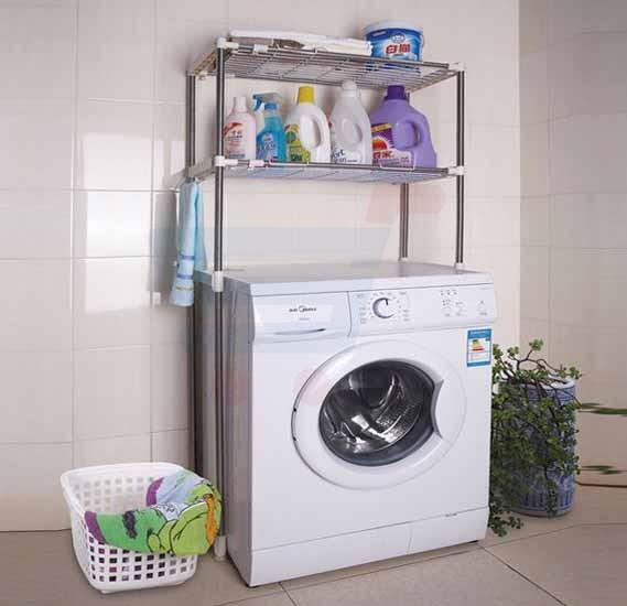 T&F Bathroom Storage Stainless Steel Laundry Shelf