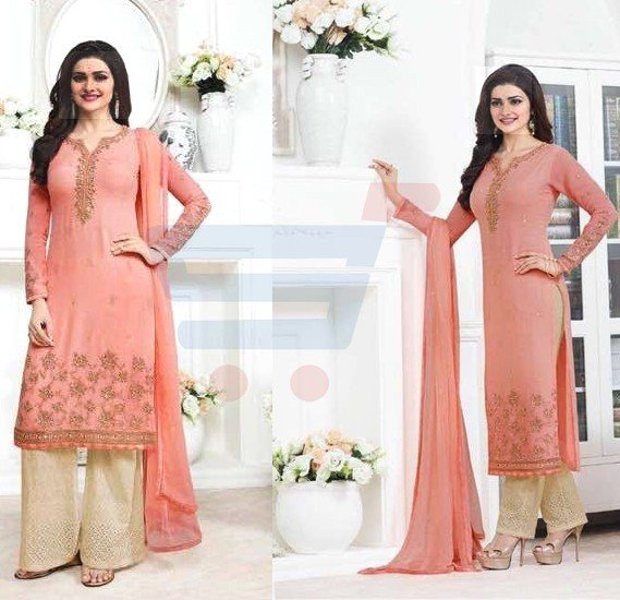 Kaseesh Prachi 5012 Georgette With Embroidery Dress Material