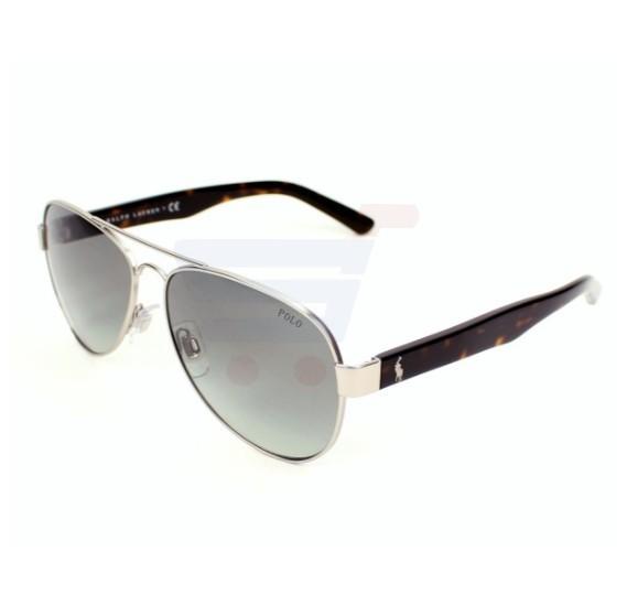 Ralph Lauren Aviator Silver - Havana Frame & Black Gradient Mirrored Sunglasses For Men - PH3096 - 901011