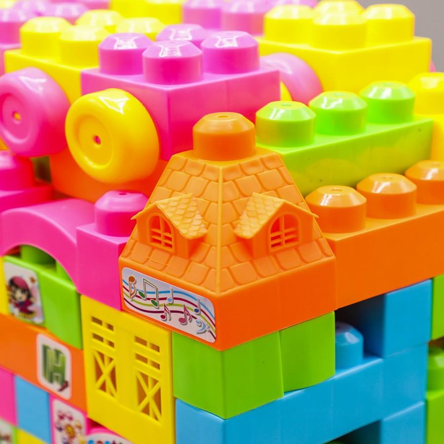 Castle Parent child building blocks interaction game 200 PCS