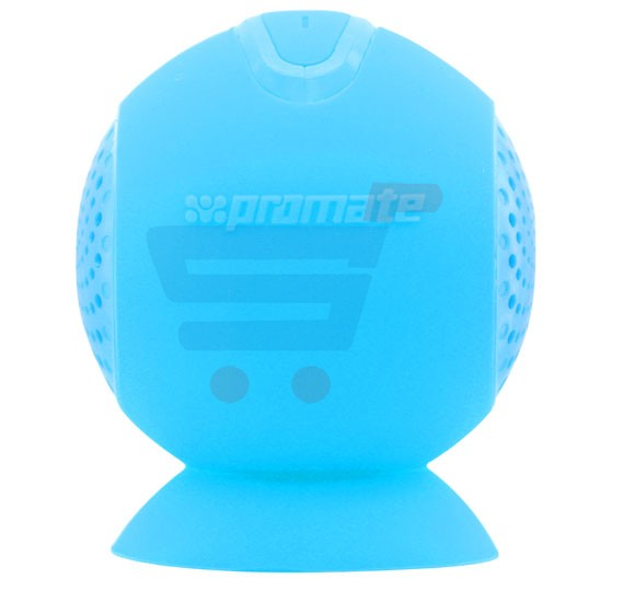 Promate Portable Bluetooth 3.0 Wireless Speaker with Built-In Mic and Suction Cup for iPod, Smartphone, Tablets, Globo-2 Blue