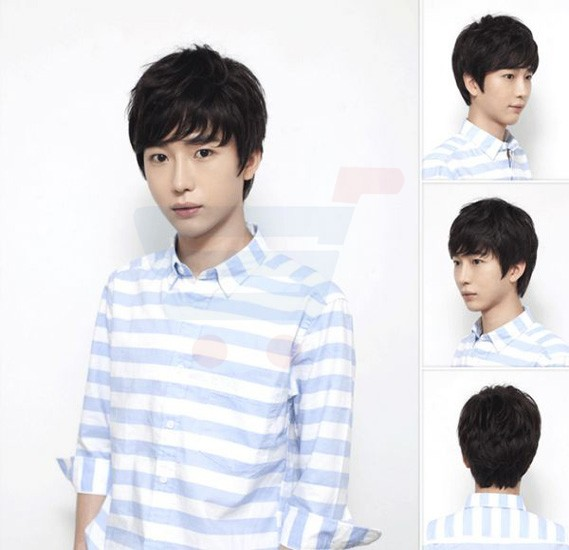 Korean Lover Style Fashion Cool Men Fluffy Short Curly Wig, BLJ-1