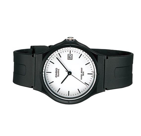 Casio MW-59-7EVDF Analog Black Rubber Strap Unisex Watch